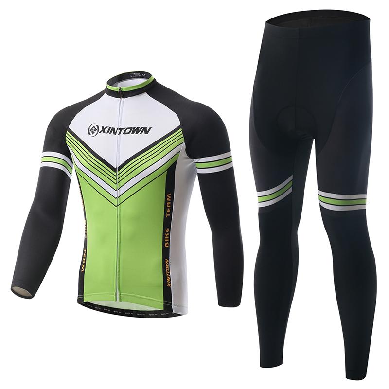 Xintown So Cool Long Sleeve Cycling Jersey/Quick-Dry Bicycle Clothes Bike Clothing /Pro Gel Racing Biking Mountain Pants Shorts(China (Mainland))