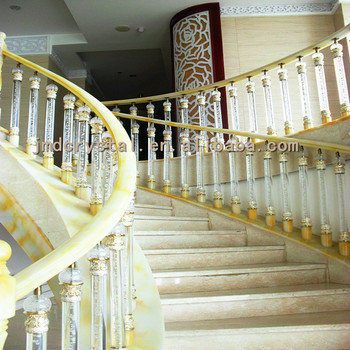 Crystal Glass Stairs Railings Designs Indoor Outdoor