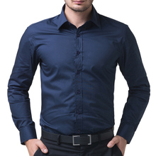 Buy Men Shirt 2017 Long Sleeve Chemise Homme Casual Men Stylish Slim Fit Solid Color Shirts Tops Camisa Masculina Plus Size 5252 for $12.82 in AliExpress store