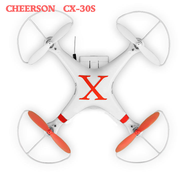 RC Quadcopter Cheerson CX-30S 4CH 2.4GHz 6-Axis Gyro FPV Helicopter Camera for i Phone Android Wifi Real Time Drone Low Shipping