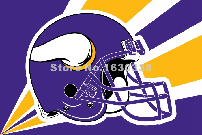 Minnesota Vikings Helmet Lighting Flag 3ft X 5ft Polyester NFL1 Minnesota Vikings Banner Size No.4 144*96cm Custom Flag(China (Mainland))