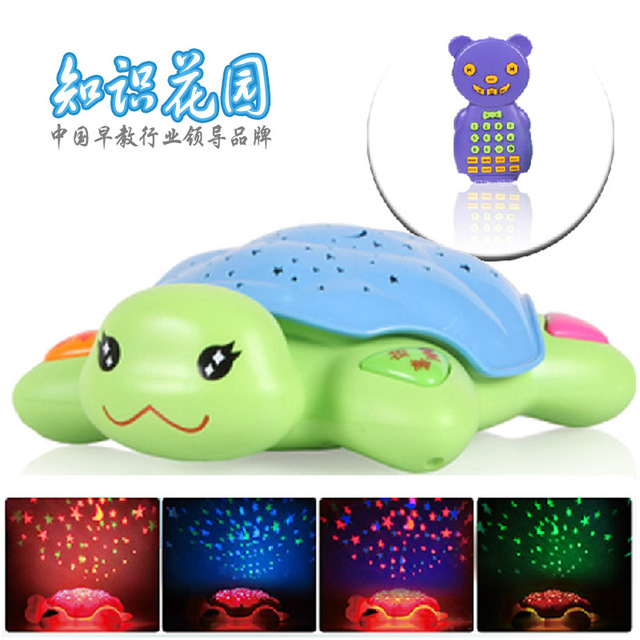 Knowledge garden turtle child t6 4g projection mp3 charge remote control
