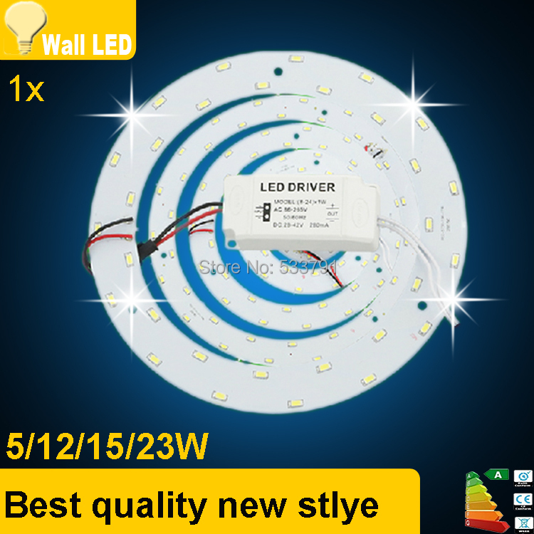 New 5W 12W 15W 18W 23W LED Ring PANEL Circle Light AC85-265V SMD 5730 LED Round Ceiling board the circular lamp board(China (Mainland))