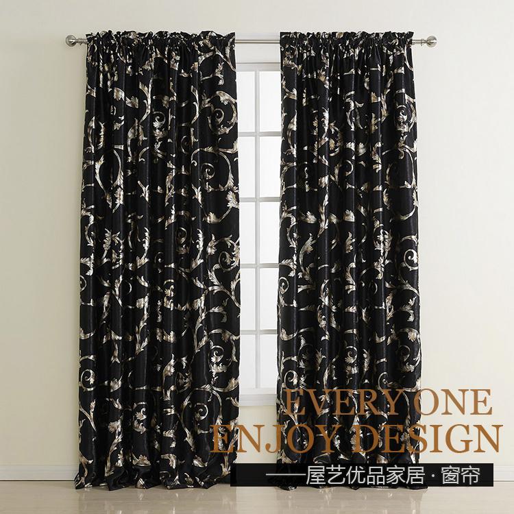 noir argent rideaux achetez des lots petit prix noir. Black Bedroom Furniture Sets. Home Design Ideas
