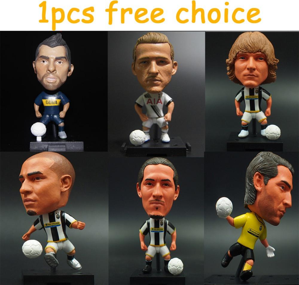 1pcs free choice KODOTO SoccerWe Movable Joints Edition football soccer moving player star dolls BUFFON HULK Kane PIERO(China (Mainland))