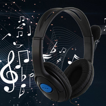 Buy dual big ear Wired Gaming Chat Headset Headphone Microphone Sony Playstation 4 PS4 Black for $5.49 in AliExpress store