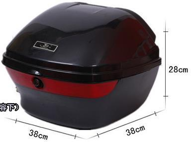 Free shipping motorcycle tailbox scooter rear box typhoon motorcycle luggage box4 size available(China (Mainland))