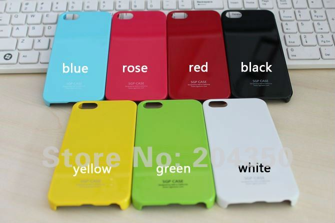 Ultra Thin SGP Case For iphone 5 Hard Plastic Case with retail box via EMS 200pcs/lot(China (Mainland))