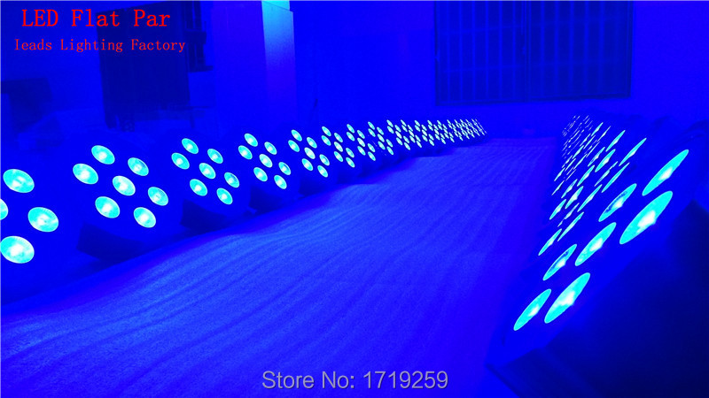 Гаджет  2015 Wireless remote control 7x 12W RGBW DMX  Led Flat Par High Power Light with Professional for Party KTV Disco DJ EU  None Свет и освещение