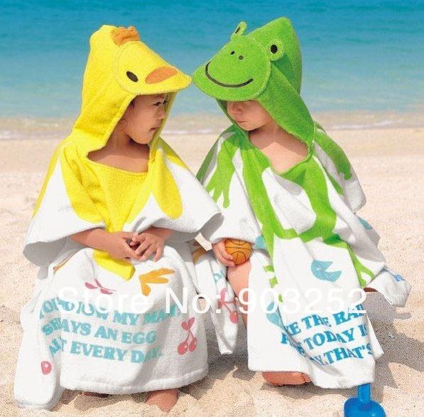 Retail-13 colors Hooded Animal modeling Baby Bathrobe/Cartoon Baby Towel/Character kids bath robe/infant bath towel(China (Mainland))