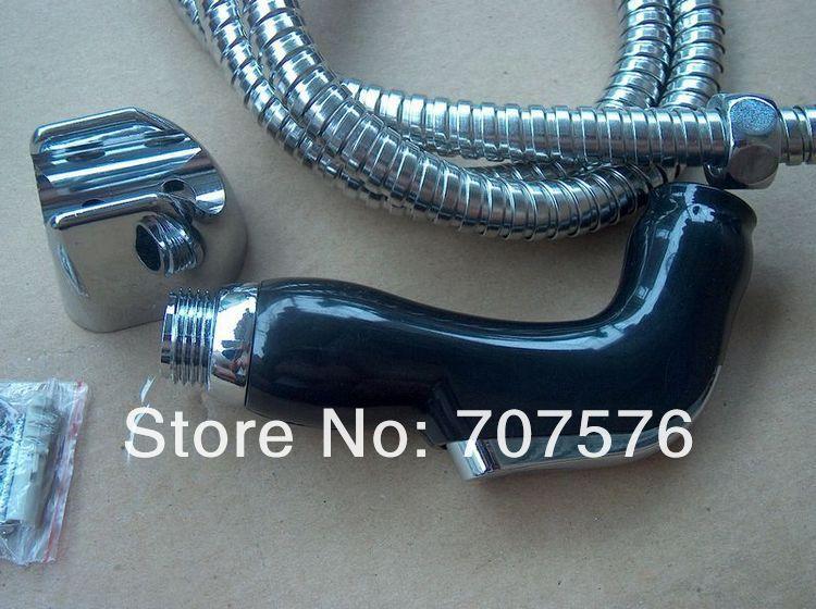 Free Shipping Bathroom Handheld Bidet Sprayer Shower gun Toilet Faucet Diaper Sprayer KIT Shattaf Nozzle+1.2m Hose+Wall Holder(China (Mainland))