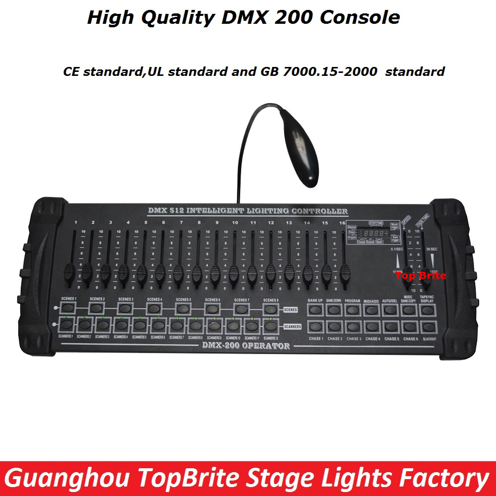 2016 High New DMX 200 Controller Stage Lighting DJ Equipments DMX Console Led Par Moving Head Lights Dj controller