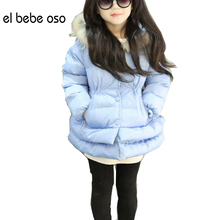 Buy el bebe oso Thick Winter Children Jackets Girls Coats Hooded Faux Fur Collar Kids Outerwear Cotton Padded Baby Snowsuit XL535 for $18.78 in AliExpress store