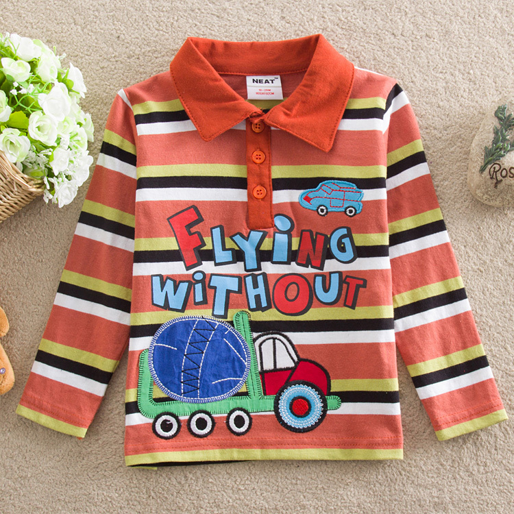 NEAT 2014 free shopping baby&amp;kids lovely car t-shirts printed letters stripe tutu boy T-shirt small childrens wear cotton L883#<br><br>Aliexpress