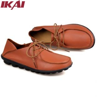 XWA137-4 2014 New Fashion Genuine Leather Women Boat Shoes Autumn Mother Work Shoes Big Size Moccasins Women Oxford Shoes(China (Mainland))