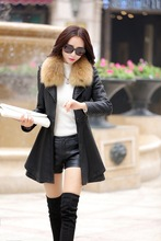 Leather Jacket Special Offer Sashes 2016 New Autumn And Winter Jacket Women Pu Leather Coat Female Plus Size Ms. Slim Collar 968(China (Mainland))