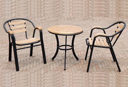 Salon de jardin terrasse chaise IKEA meubles en bois, Fer forgu00e9 patio ...