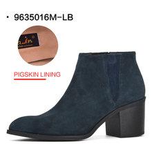 Tasfiye satışı Donna-in yarım çizmeler kadınlar için hakiki deri yüksek topuk sivri burun moda patik kadın ayakkabı bayan botları(China)