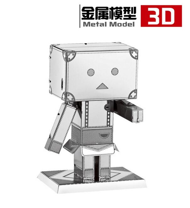 DIY 3D Puzzle Metal Earth 3D Laser Cut Model 3D Jigsaws DIY Gift Carton people Danboard jugetes Model toys confeitaria(China (Mainland))
