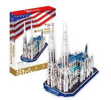 St. Patrick Cathedral CubicFun 3D educativo de papel y EPS modelo Papercraft adorno casero para la navidad regalo de cumpleaños