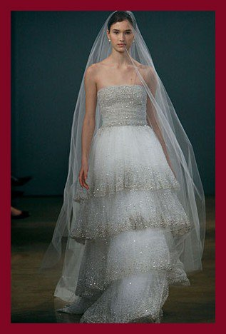 Free shipping online wholesale&retail tulle wedding dress of Monique Lhuillie fall 2009 collection Shiloh(China (Mainland))