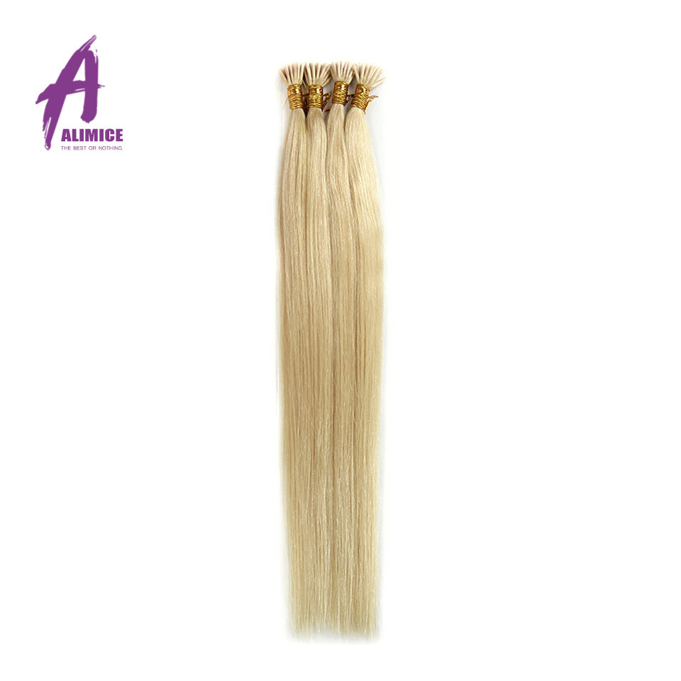 Neitsi #24 Natural Blonde 20 50g 100g 1g/s Indian Virgin Human I Tip Stick Tip Straight Keratin Virgin Remy Hair Extensions<br><br>Aliexpress