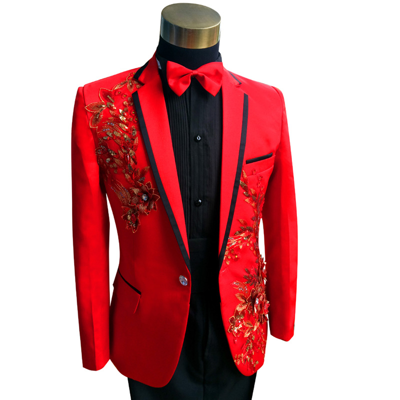 red tuxedo Mens Suits Cheap Zoot Suits Man Suit