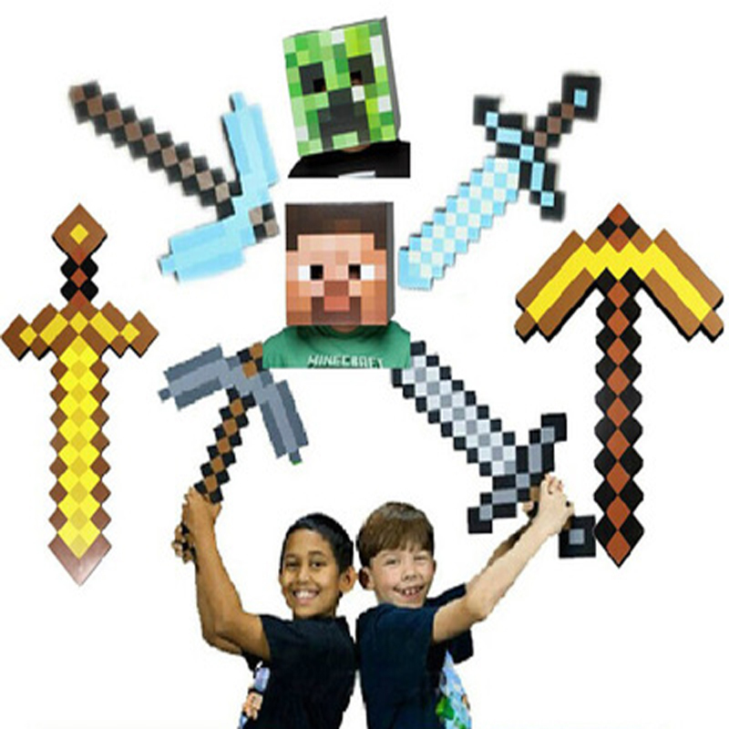 Гаджет  Novelty Kids Toys Outdoor Boys Favourite EVA Toys Sword Pickaxe Gun Game Props Toy Model Birthday & Christmas Gifts For Kids None Игрушки и Хобби