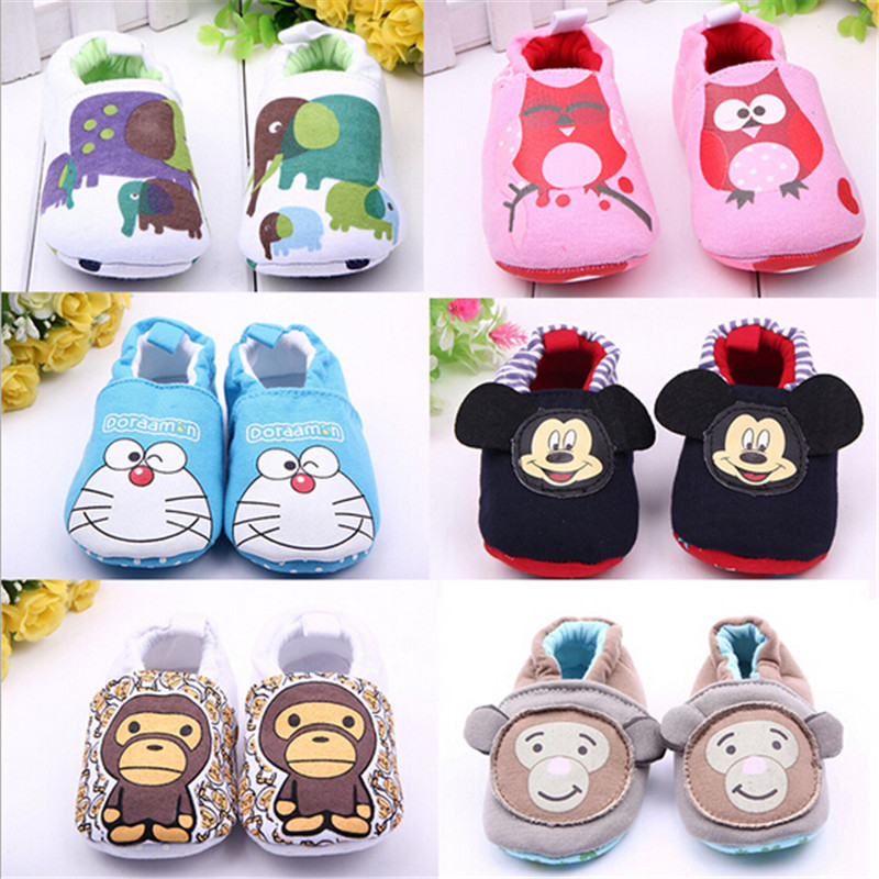 Cute Cartoon Novelty Newborn Baby Boys Infant Shoes Winter Soft Cotton First Walker Baby Shoes Boy Toddler Keep Warm Thick shoes(China (Mainland))