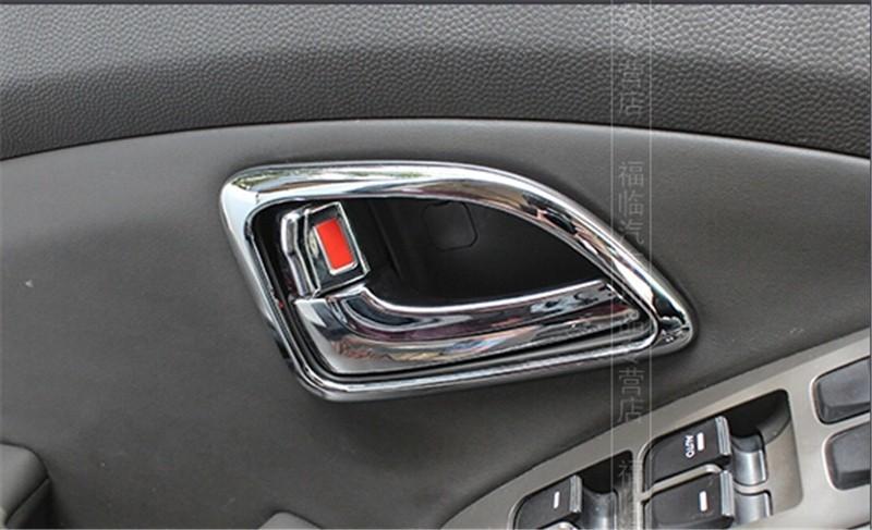 For HYUNDAI ix35 Car interior trim doors hand-clasping decoration ring ABS Chrome trim auto accessories 4pcs per set(China (Mainland))