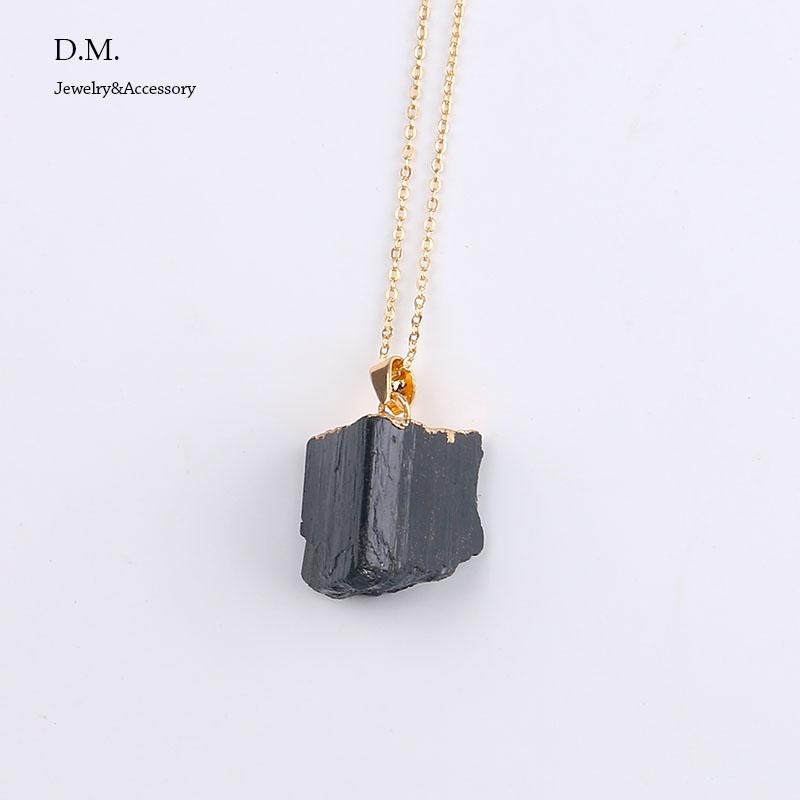 minimalist jewelry black tourmaline necklace reiki chakra