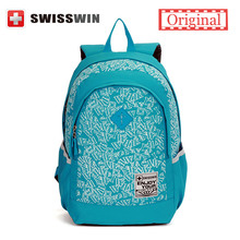 Swisswin Fashion School Backpack Girls Daypack Cool Multi-Pocket Schoobag For Teenage Boys Stylish Waterproof Bookbag Bagpack(China (Mainland))