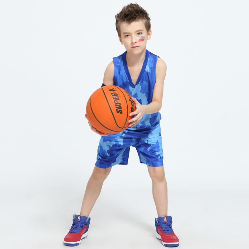 2017 Boys and Girls Blank Basketball Jerseys Team Uniforms Custom Logo Printing Youth Kids Throwback Basketball Training Jersey(China (Mainland))