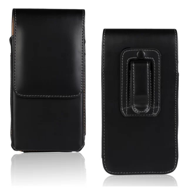 For LG Optimus L4 II Tri E470 Men Belt Clip Leather Pouch Waist Bag Phone Cover Belt Leather Case(China (Mainland))