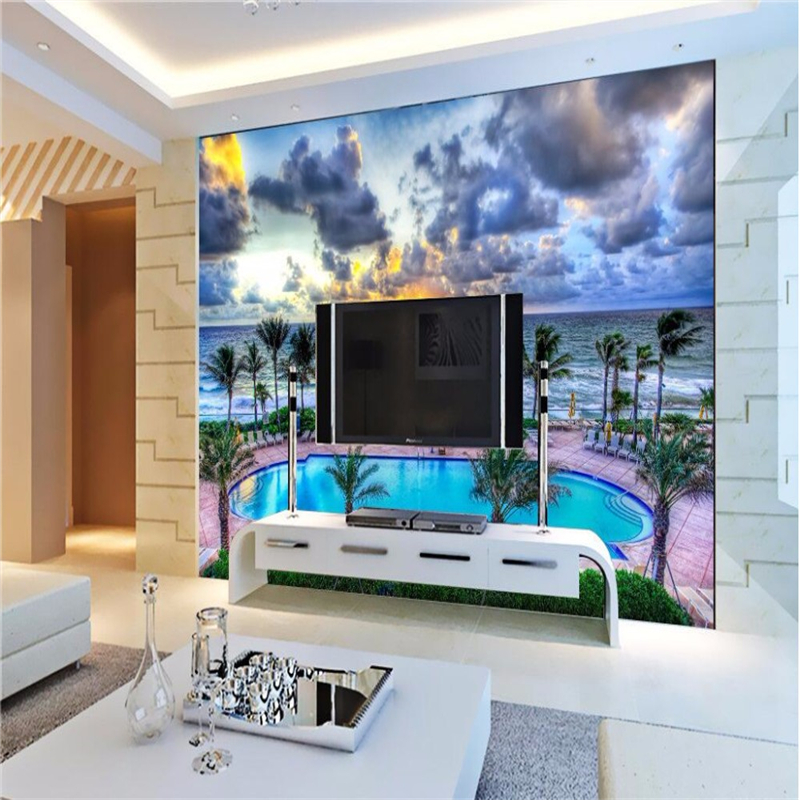 Compare prices on swimming pool heat online shopping buy for Contemporary resort mural