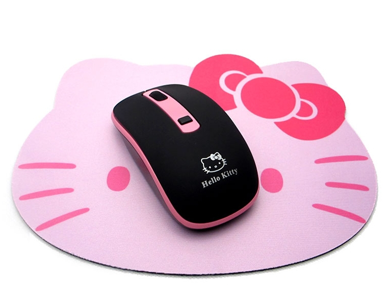 Free Shipping Wireless Hello Kitty Mouse Ergonomically Designed PC Peripherals Hardware Cartoon Gaming Laptops Optical Mouse(China (Mainland))
