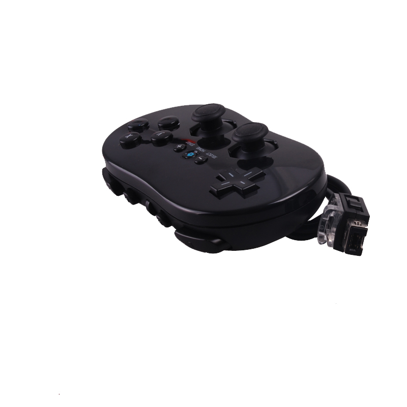 Free Shipping Classic Wired Gamepad VIDEO GAME Controller for Nintendo and U Gamecube Black 1pcs/lot O15(China (Mainland))