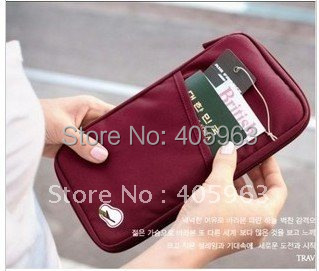 Free shipping 6pcs/lot Portable multi-purpose travel bag Handbag busines card ID storage bags