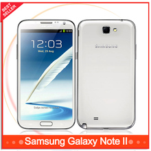 Original Samsung Galaxy Note II 2 N7100 Cell phone Quad Core 2GB RAM 16GB ROM Unlocked 3G NFC Unlocked Refurbished Mobile phone