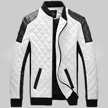 free shipping explosion  quilted collar young men to increase men 's leather wallet gram plus cotton leather jacket leather 100(China (Mainland))