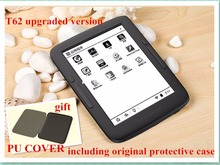 *e-reader BOYUE T62+ and cover dual core 8G eink touch screen backlight  Android WIFI ebook reader include pu case free shipping