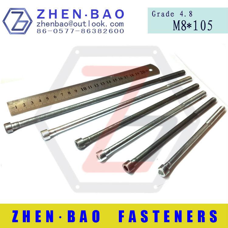 [ M8*105mm ] DIN912,low price screws,Half  thread,lengthened bolt,socket head cap screws (Manufacturer)<br><br>Aliexpress