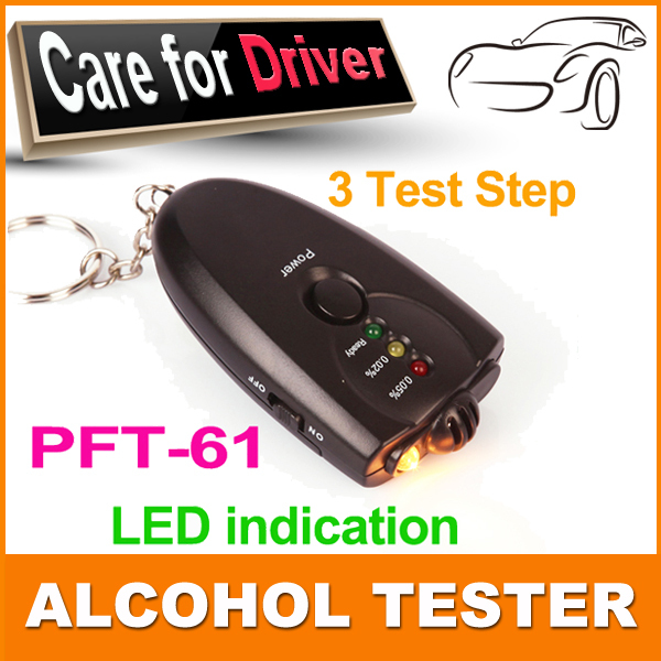 2pcs/lot Mini Accurate Breath Alcohol Tester with Flashlight Professional Digital Breath Alcohol Tester alcoholmeters(China (Mainland))