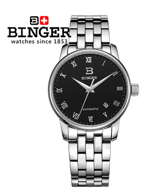 Big Discount Brand New 2017 Luxury Mens Automatic Watch Original Binger Mechanical Watches Golf Sport Men Wristwatch Hotsale(China (Mainland))