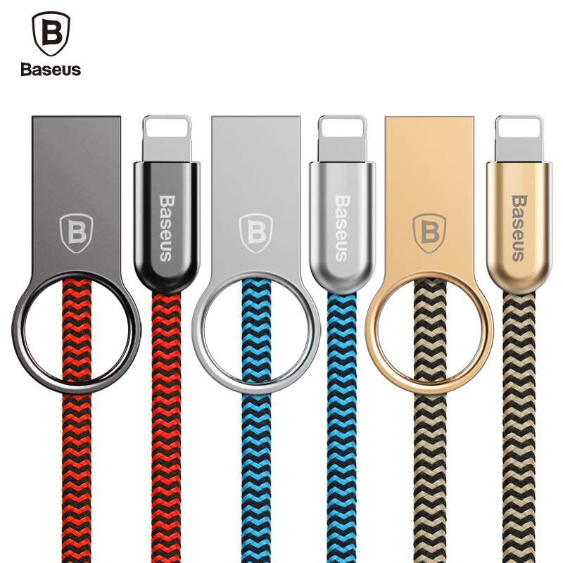 Baseus Ring For iPhone Lightning Cable Zinc Alloy USB Cable For iPhone 7 6s 6 Plus SE 5S 5 iPad Air IOS 10 9 Charging Data Cable(China (Mainland))