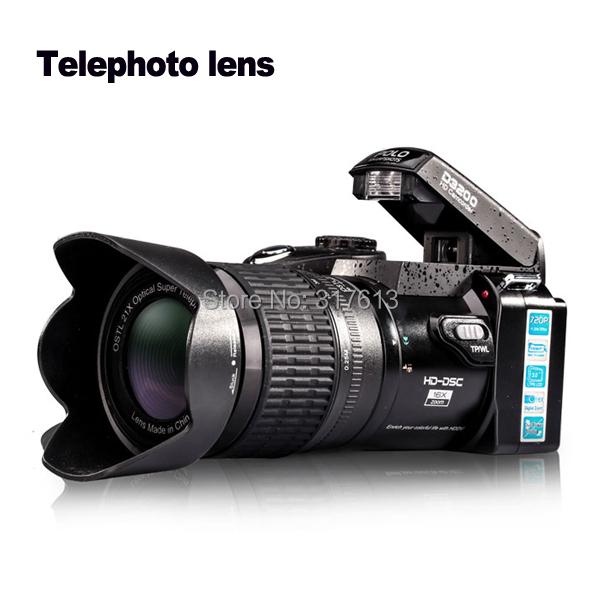 FreeShipping Protax New Polo Protax SLR D3200 Camera 16MP 3.0 TFT 21X Zoom Telephoto Lens HD Digital Video Digital Camera D3200(China (Mainland))