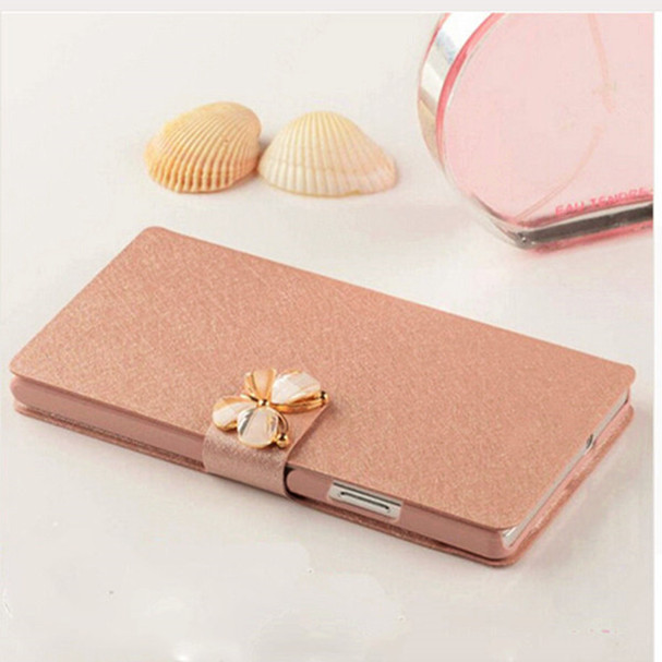 Silk Texture Cell Mobile Phone Bag to Case For LG LEON 4G LTE C40 Cover Phone Leathe Filp Cover For LG H340N H320 C50 H324