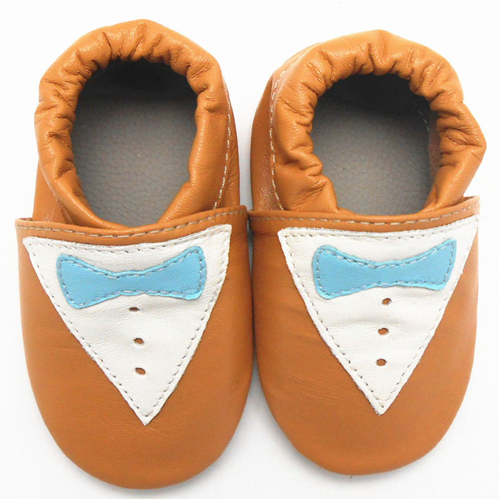 High Quality Baby Moccasins Toddler Infant Footwear Soft Sole Cow Leather Baby Boy Shoes Butterfly NewBorn Shoes Free Shipping