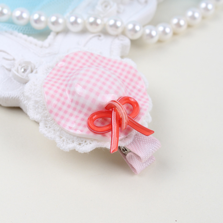 2015 New Korean Style Small Hat Hairpins Bow Hairbands Children Cute Candy Color Hair Claws With Bow Fashion Hair Accessories(China (Mainland))