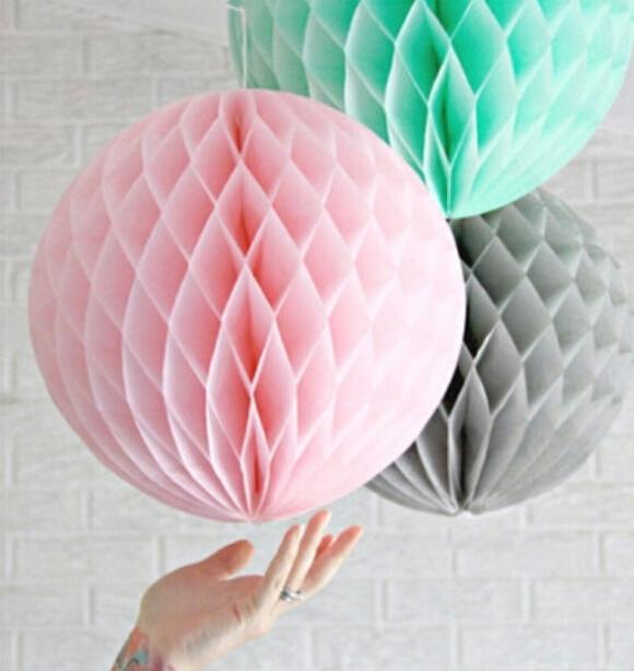 10cm=4 inch Tissue Paper Flowers balls Poms honeycomb lantern Party Decor Craft For Wedding Decoration multi Wholesale retail(China (Mainland))